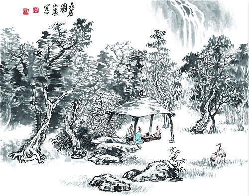 3龙山农,品茗图,49cm×69cm,中国画_meitu_15.jpg