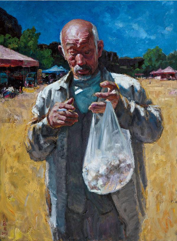 曹新林《一袋蒜》130x97cm-油画.jpg