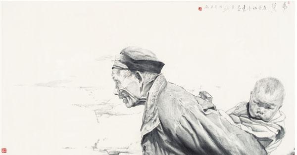 丁中一《希冀》97x180cm-中国画.jpg